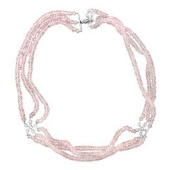 Cathy Waterman Rose Quartz Platinum Necklace
