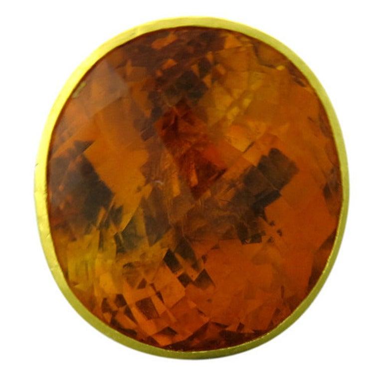 Large Gurhan Madeira Citrine Gold Ring