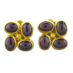 Gurhan Ruby Gold Cufflinks