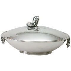 Georg Jensen sterling silver covered Dish No. 408B