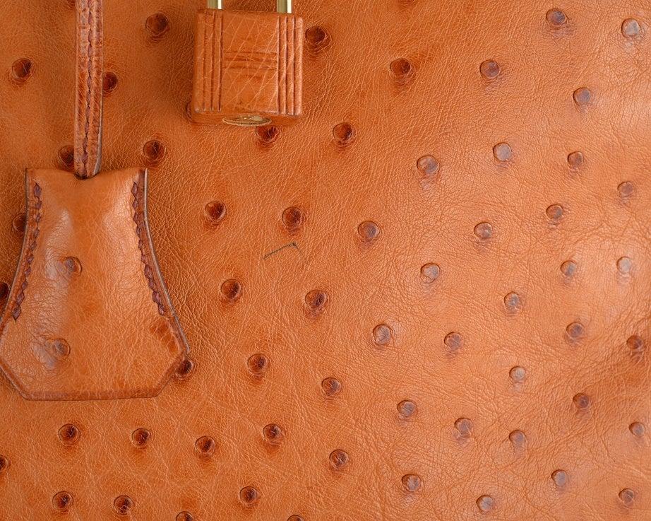 CLASSIC CHIC HERMES BIRKIN BAG 35CM OSTRICH COGNAC GOLD IMPOSSIB image 3