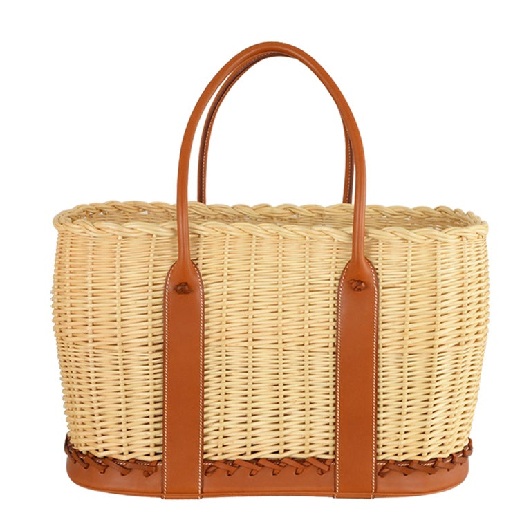Hermes Limited Edition Garden Party Tote With Barenia