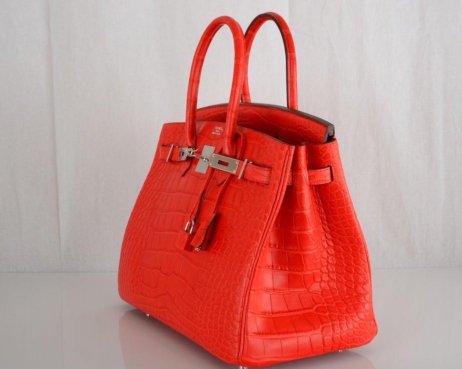 hermes purse - ON FIRE! NEW COLOR HERMES BIRKIN BAG 35cm CROCODILE MATTE RED at ...