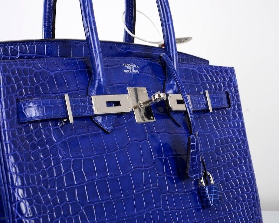 herme birkin blue bag