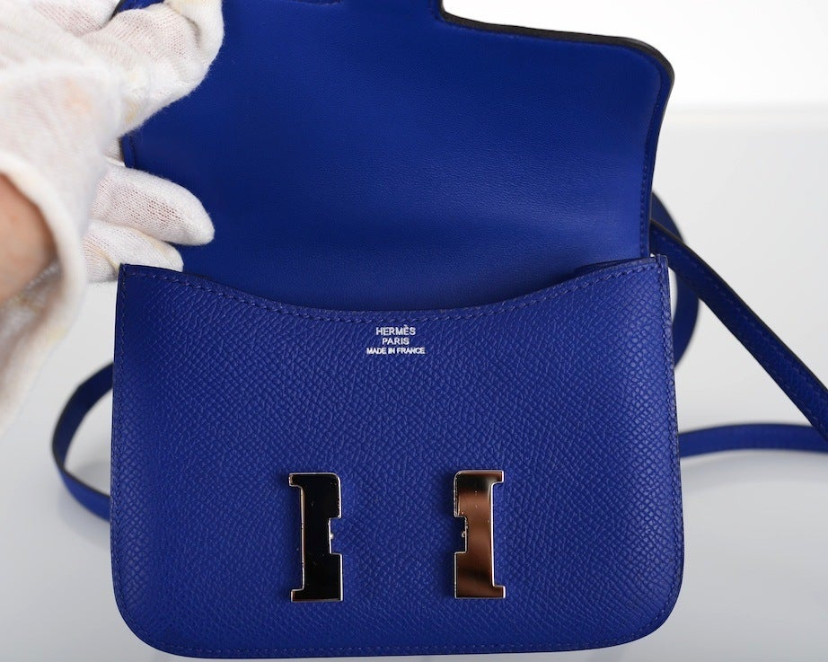 Hermes Constance Bag Blue
