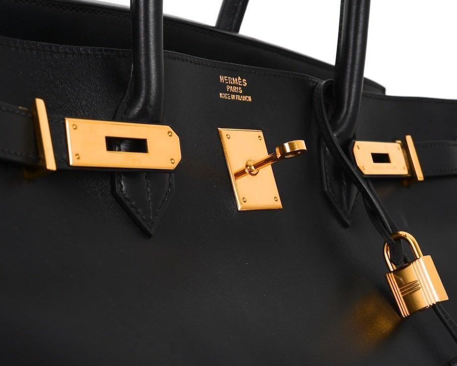 Black Hermes Birkin Bag Birkin Bag 40cm Black Box