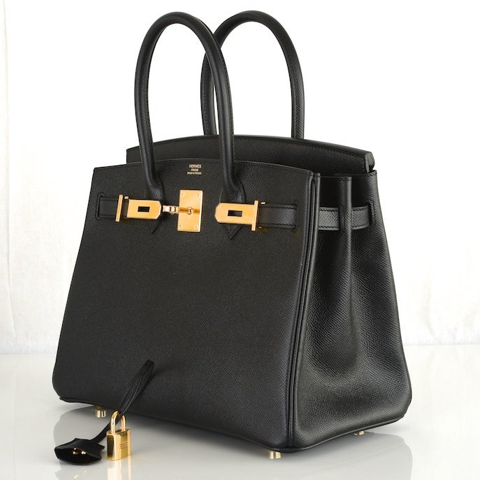 best replica birkin bags - THE BEST HERMES BIRKIN BAG 30CM BLACK EPSOM WITH GOLD HARDWARE at ...
