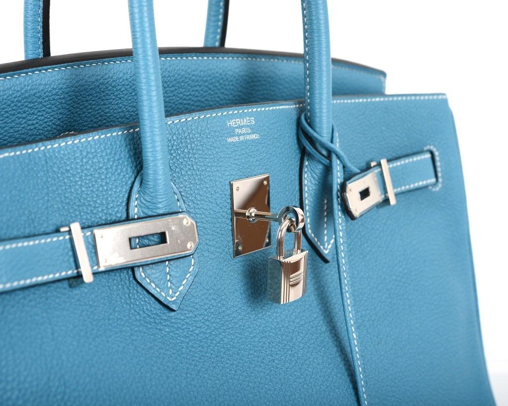 hermes orange bag - AMAZING FIND HERMES BIRKIN BAG 35CM BLUE JEAN GORGEOUS TOGO PHW at ...