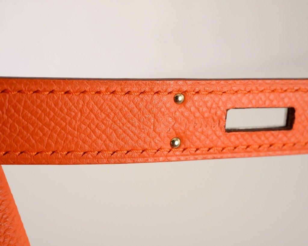 NEW CANDY COLLECTION HERMES BIRKIN BAG MANGUE SORBET ORANGE at 1stdibs
