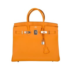 Hermes Birkin 35CM HAPPIEST COLOR JAUNE-D'OR  PALLADIUM HW