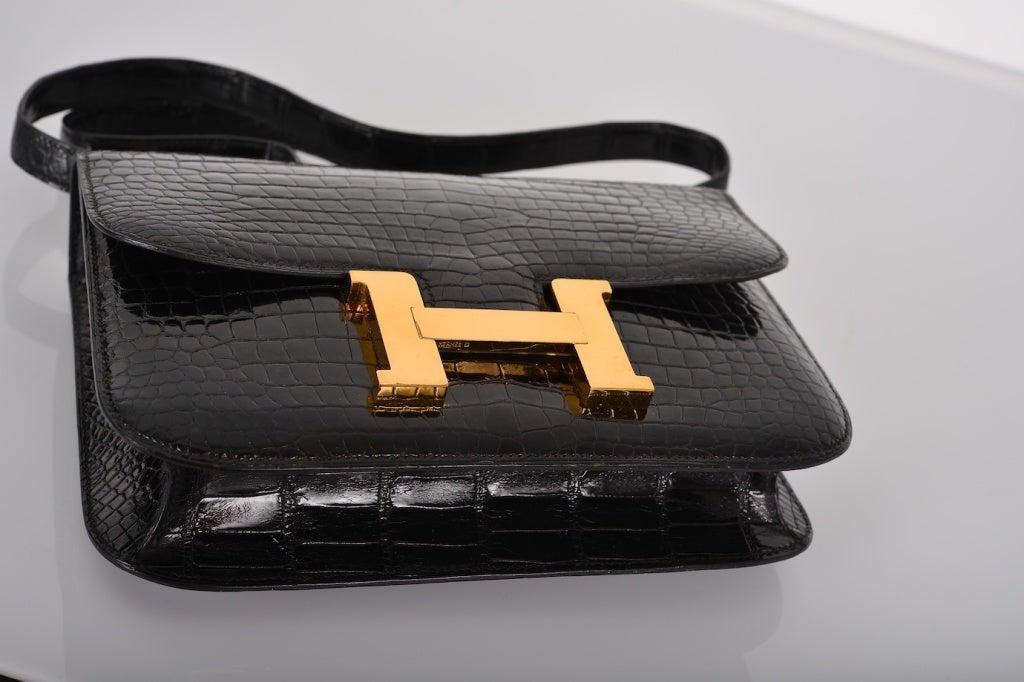 hermes look alike - MUSTHAVE HERMES CONSTANCE BAG CROCODILE BLACK WITH GOLD 23CM at ...