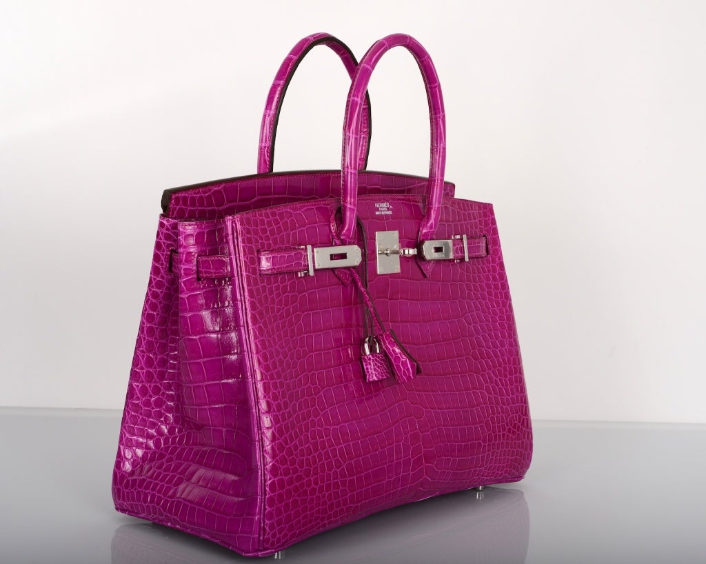 kelly purses - Hermes Birkin Bag 35Cm Porosus Crocodile Rose Scheherazade ...