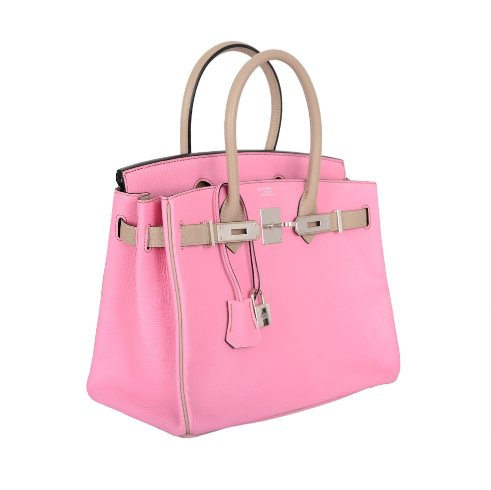 hermes for sale  - SPECIAL ORDER HERMES BIRKIN BAG 30cm BUBBLEGUM PINK and GRIS T CHE ...