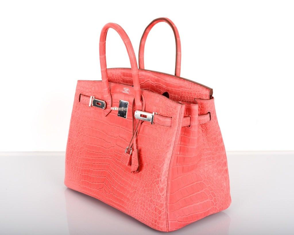 pink crocodile birkin bag
