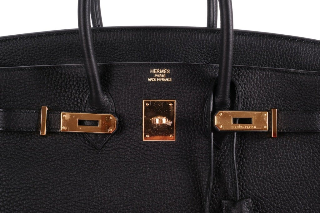 BEYOND.. HERMES BIRKIN BAG 35cm BLACK WITH GOLD HARDWARE image 2
