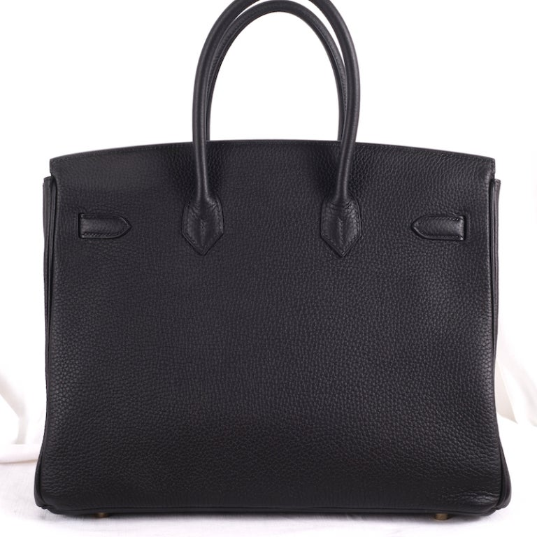 BEYOND.. HERMES BIRKIN BAG 35cm BLACK WITH GOLD HARDWARE image 3