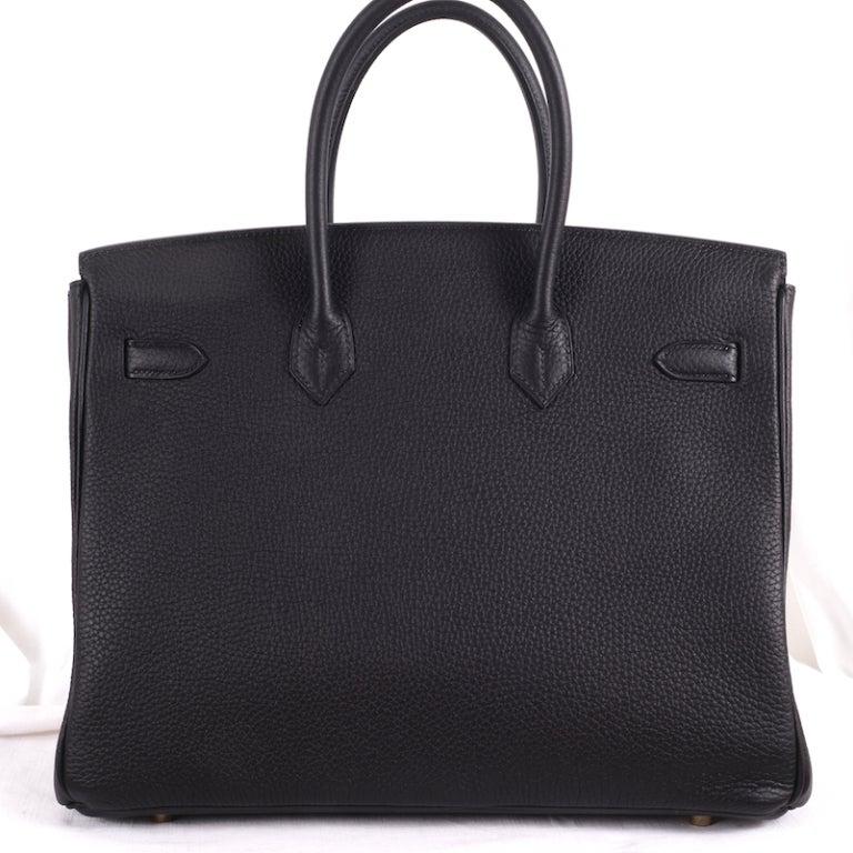 BEYOND.. HERMES BIRKIN BAG 35cm BLACK WITH GOLD HARDWARE 3