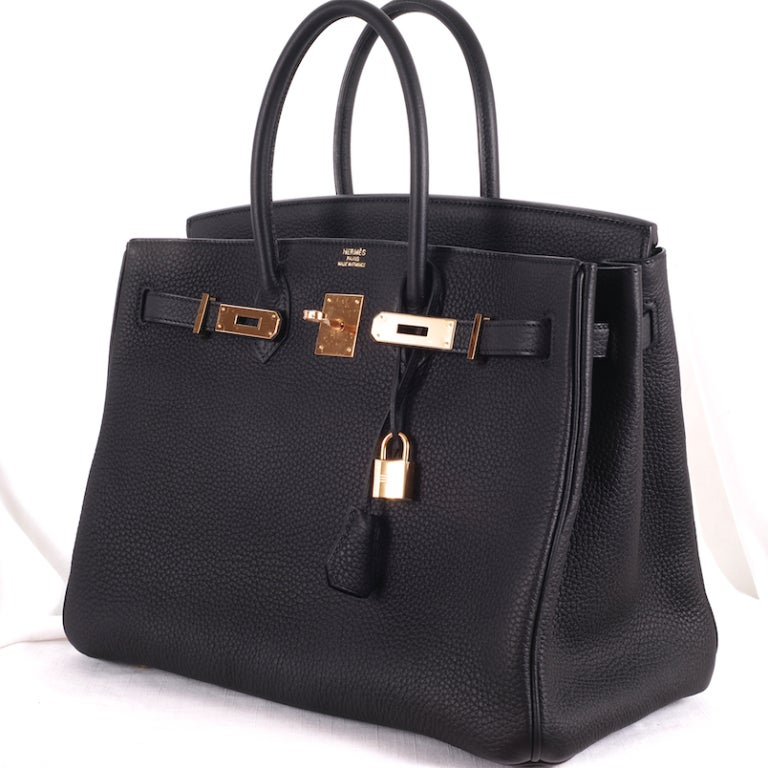 BEYOND.. HERMES BIRKIN BAG 35cm BLACK WITH GOLD HARDWARE 5