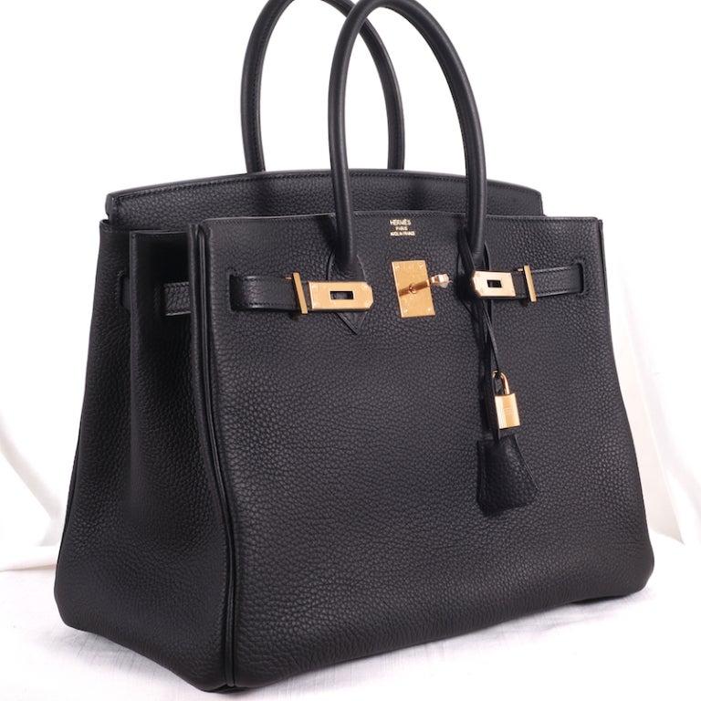 BEYOND.. HERMES BIRKIN BAG 35cm BLACK WITH GOLD HARDWARE 6