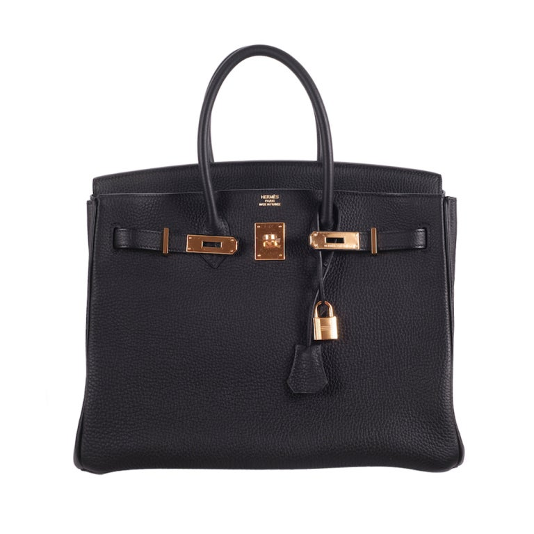 BEYOND.. HERMES BIRKIN BAG 35cm BLACK WITH GOLD HARDWARE