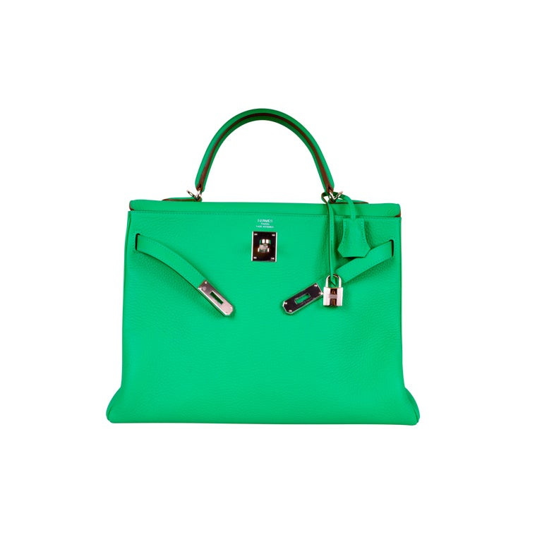 HERMES KELLY BAG 35CM MENTHE MINT OMG COLOR!