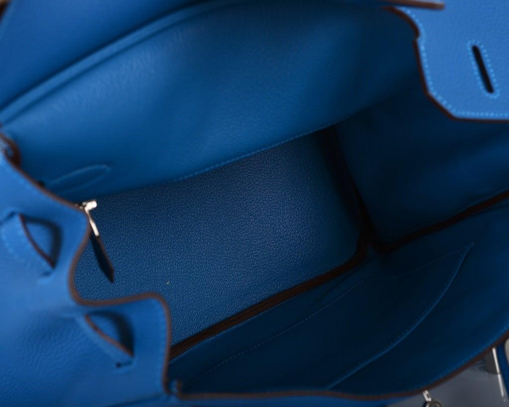 WOW HERMES BIRKIN BAG 35CM MYKONOS TOGO W PALLADIUM image 10