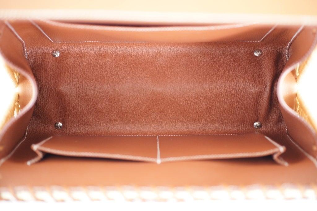 hermes leather bag - HERMES KELLY PICNIC BAG 35cm * RARE * LIMITED * at 1stdibs