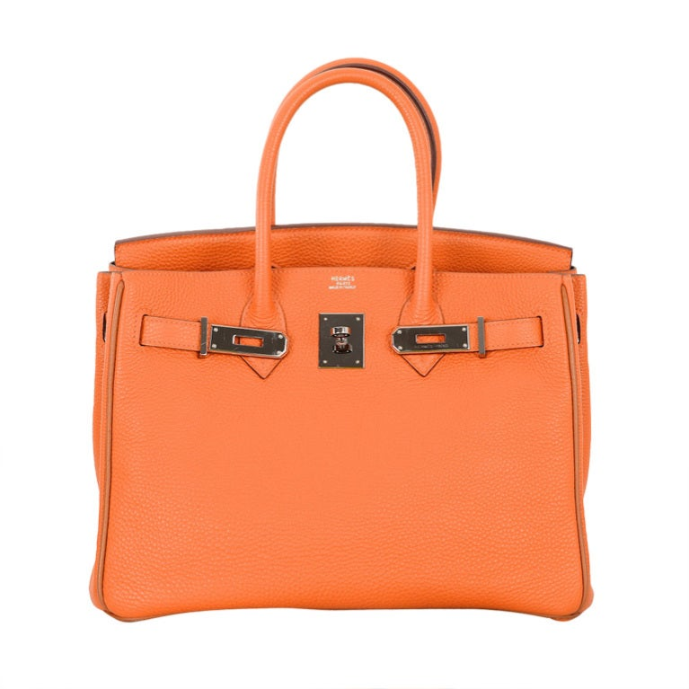 usl briefcase hermes - VERY SPECIAL HERMES BIRKIN BAG 30CM HOT ORANGE WITH BROWN PIPING ...