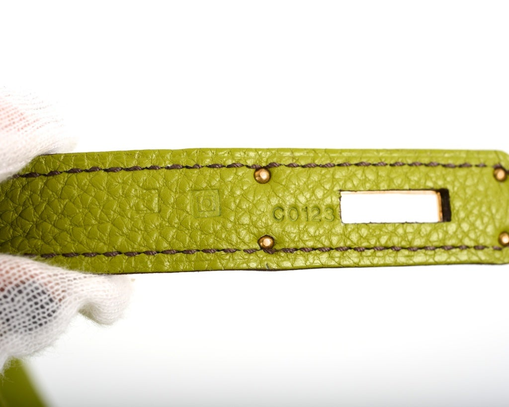 Green Apple Hermes Kelly 35cm Vert Anis With Gold Hardware At 1stdibs