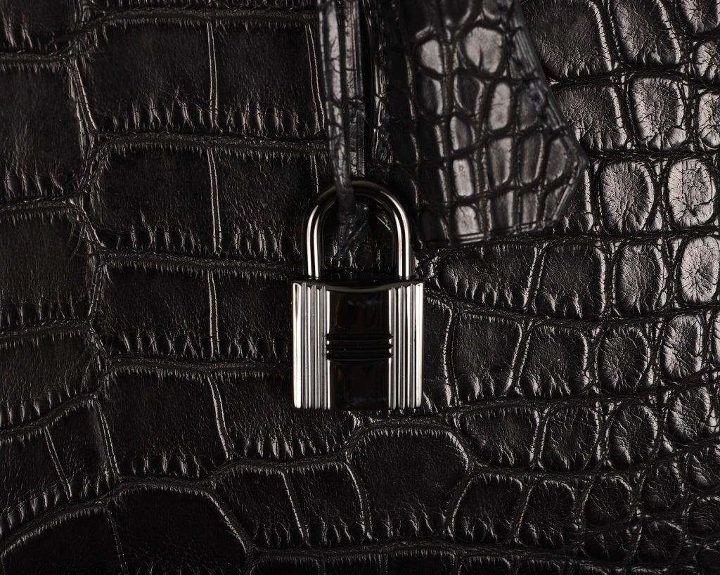 hermes black limited edition crocodile birkin 35cm