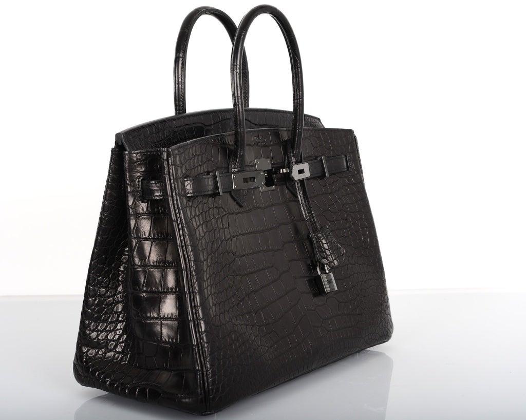 hermas bags - Wow! Bag Limited Hermes Birkin Bag Black Matte So Black Croc at ...