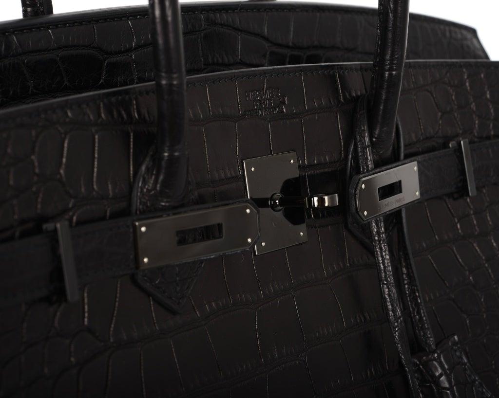 hermes bags - hermes black limited edition crocodile birkin 35cm, hermes bags ...