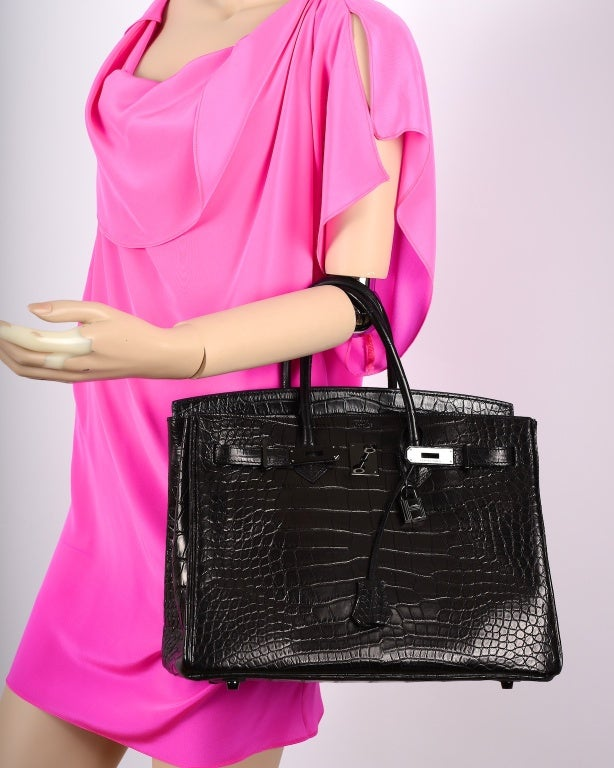 replica hermes birkin handbag - Wow! Bag Limited Hermes Birkin Bag Black Matte So Black Croc at ...