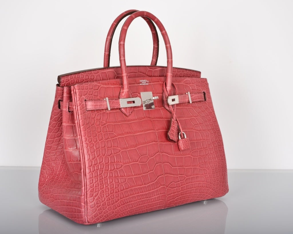 authentic birkin bags for sale - Hermes Pink Crocodile Birkin Bag Price