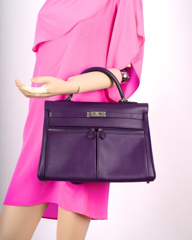 replica hermes evelyne bag - Insane New Color Hermes Kelly 35Cm Lakis In Ultra Violet Stunner ...
