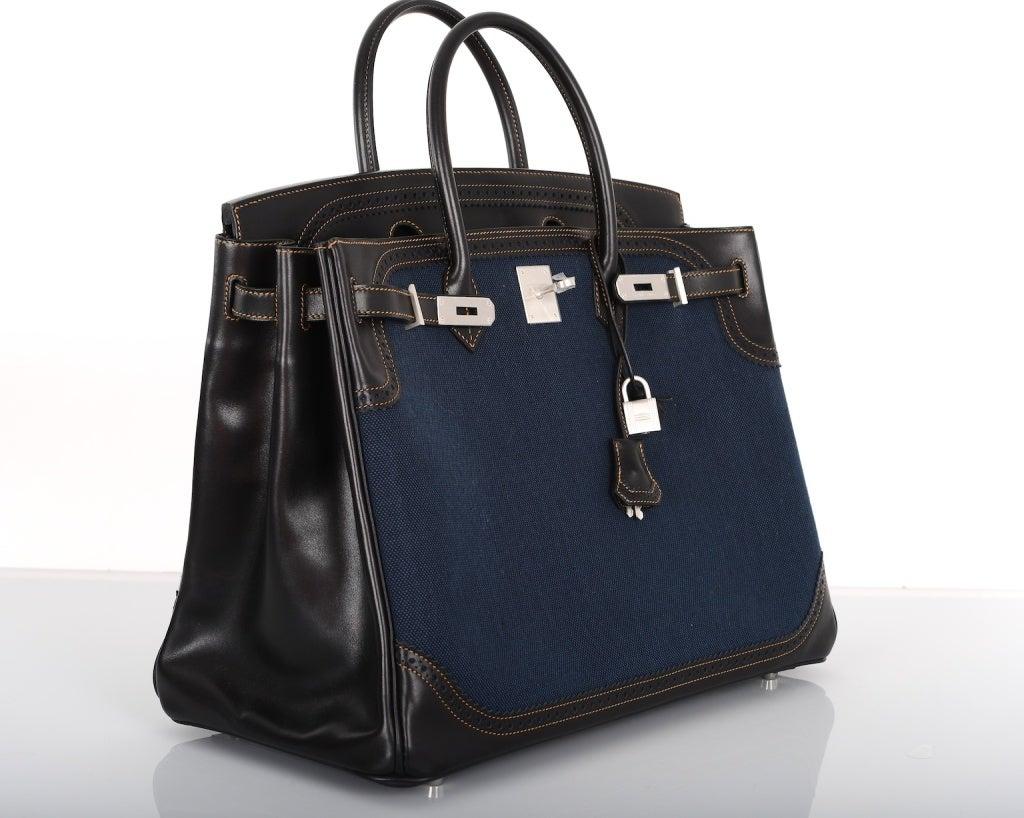 hermes handbags outlet - LIMITED EDITION HERMES BIRKIN BAG 40cm DENIM GHILLIES W BRUSHED at ...