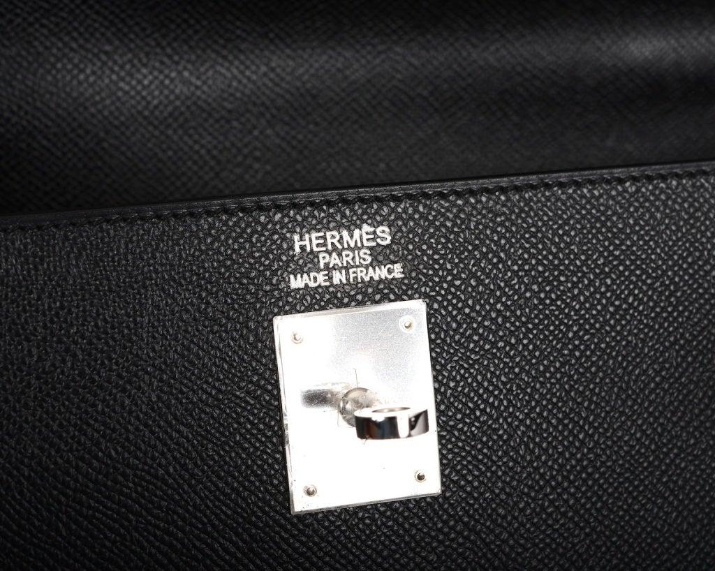 BEST BET ALWAYS HERMES KELLY BAG 35CM BLACK EPSOM PALLADIUM image 7