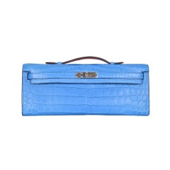 HERMES KELLY CUT MYKONOS MATTE CROCODILE BAG KELLY CUT CLUTCH