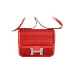 JEWEL HERMES CONSTANCE OTTAMAN 18cm DeCRIN VERMILLION RED ROUGE