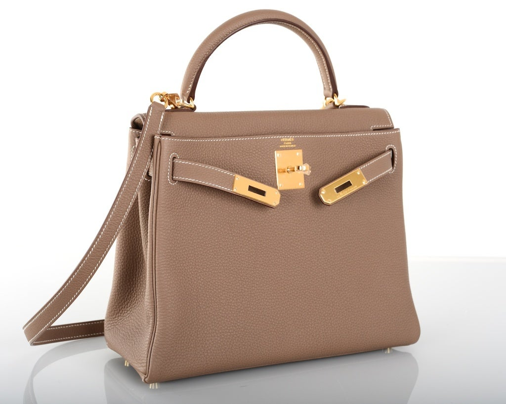 how much do hermes bags cost - Hermes Kelly Bag Etoupe 28Cm Togo Gold Hardware Stunning Combo! at ...