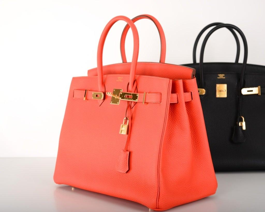 hermes birkin bag cost - New Color! Hermes Birkin Bag 35cm Capucine With Gold Hardware at ...