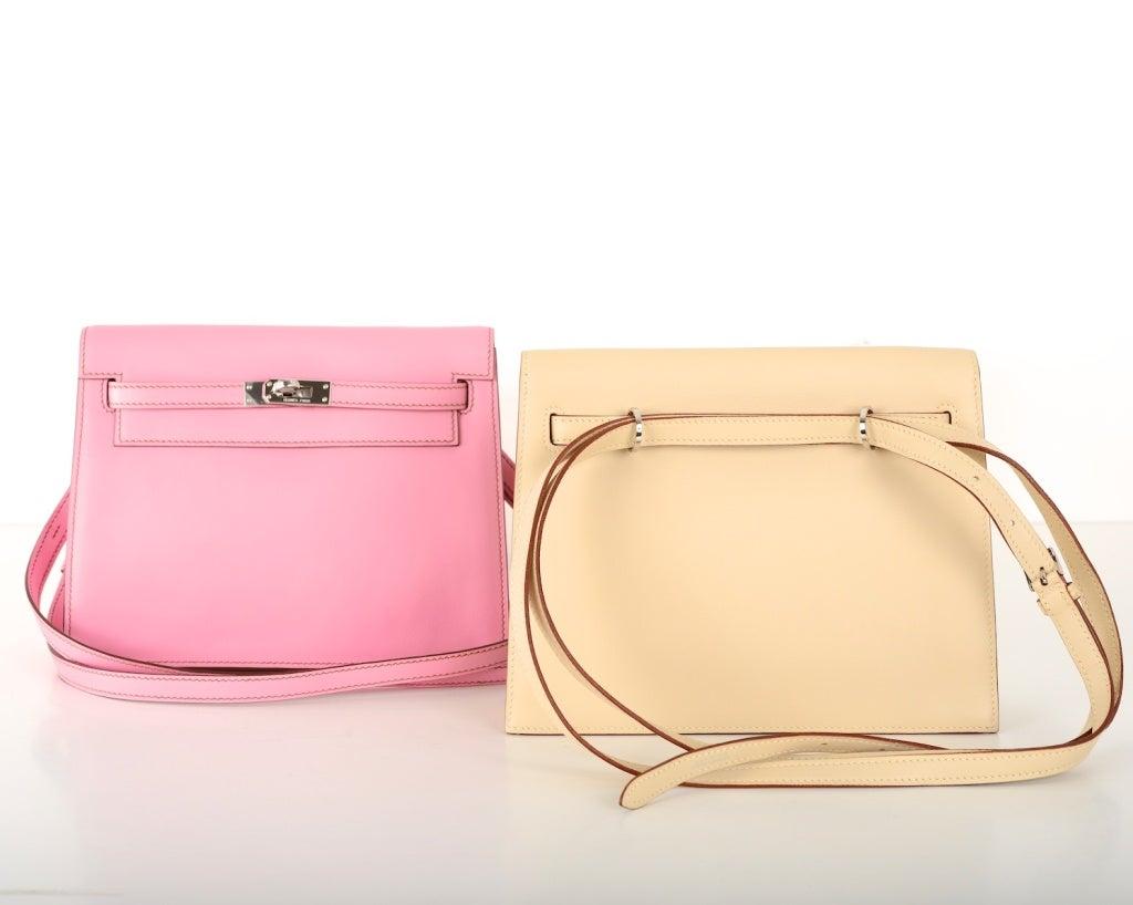replica handbags 4 u - Only On JF Hermes Kelly Danse Bag Vanilla Swift Palladium at 1stdibs