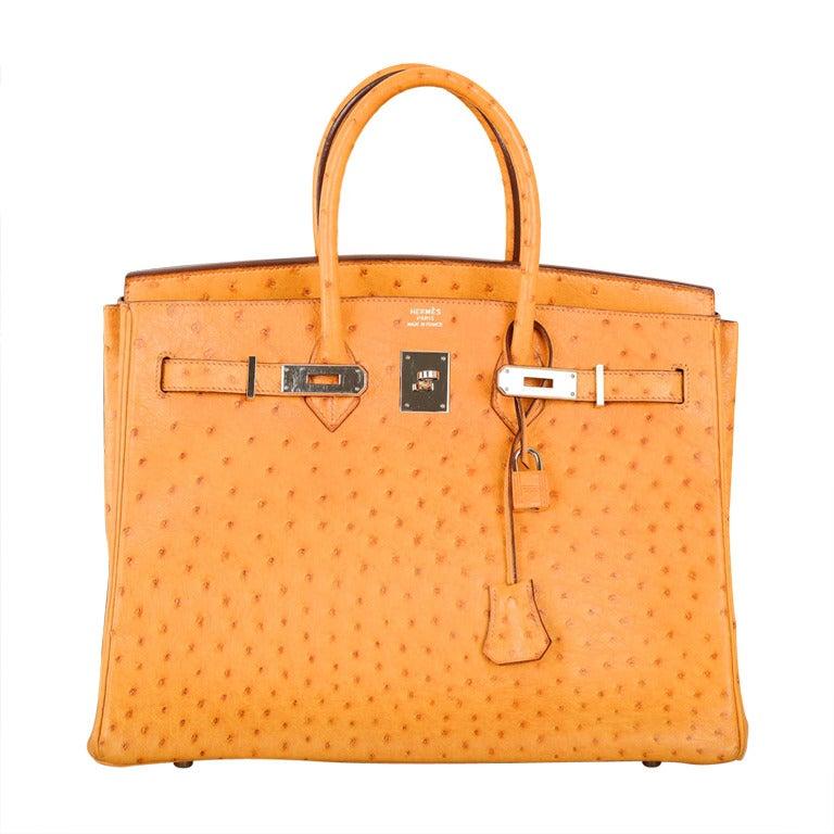 Hermes Birkin Bag 35cm Ostrich Saffron Impossible To Get
