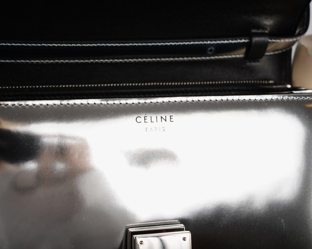 Limited EDITION CELINE BAG MIRROR BOX FLAP BAG CROSS BODY ...