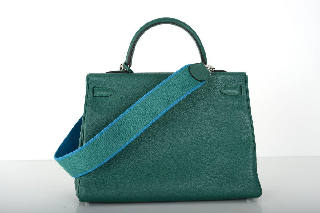Hermes Kelly Bag 35cm Malachite Palladium Hardware JaneFinds For ...