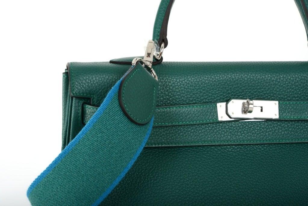 Hermes Kelly Bag 35cm Malachite Palladium Hardware JaneFinds For ...