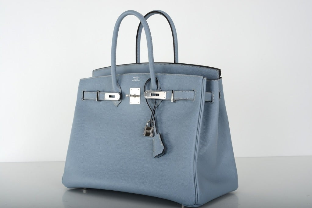 knock off croc brands - Lovely New Color Hermes Birkin Bag 35cm Blue Lin Bleu Lin Epsom at ...