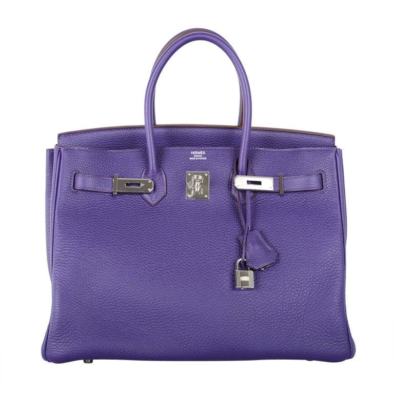 Hermes Birkin Bag 35cm Iris Stunning Togo Cant Get This