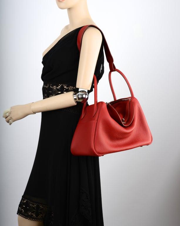 hermes inspired handbags - Yum! Hermes Rouge Garance Lindy Bag 34Cm U Will Filp! at 1stdibs