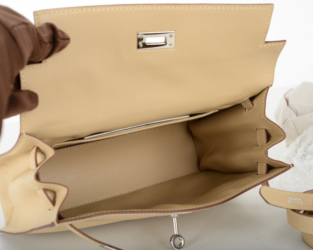 replica hermes handbags - Only On JF Hermes Kelly Danse Bag Parchment Swift Palladium at 1stdibs